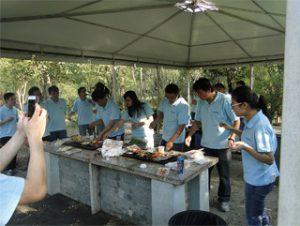 บาร์บีคิวใน Gucun Park ฤดูใบไม้ร่วงปี 2014