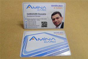 นามบัตรตัวอย่าง prining จากเครื่องพิมพ์ uv เดสก์ทอปขนาด A2 WER-D4880UV