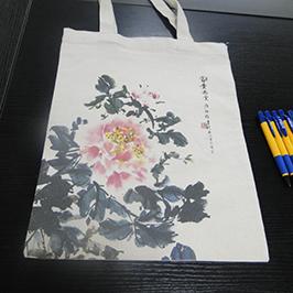 ถุงผ้าใบพิมพ์ตัวอย่างโดยเครื่องพิมพ์เสื้อยืด A2 WER-D4880T