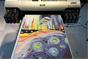 ตัวอย่างผ้าใบจาก A2 UV Printer WER-EH4880UV