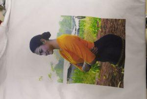 เสื้อยืดพิมพ์ตัวอย่างสำหรับลูกค้าพม่าจากเครื่องพิมพ์ WER-EP6090T