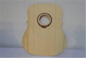 ตัวอย่างกีตาร์ไม้จากเครื่องพิมพ์ UV ขนาด A2 WER-DD4290UV